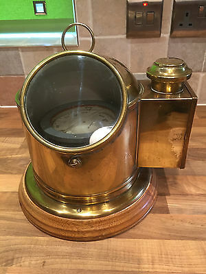Vintage Brass Ships Binnacle gimbal Sestral compass Nautical Maritime Marine