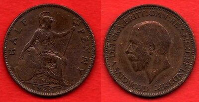 GREAT BRITAIN UK : 1/2 Half Penny 1932 King George V Nice Quality Coin
