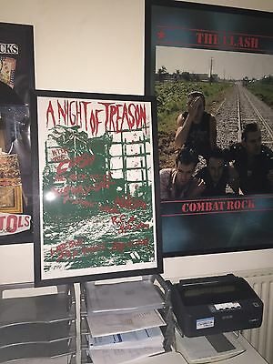 """THE CLASH Signed Print """"Night Of Treason"""" 1976 Punk Gig poster with Subway Sect"""