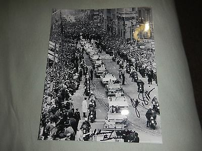 Toronto maple leafs Cup Parade sweet autographed 8x10 by 2 Bower Pappin