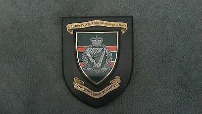 Royal Irish Regiment 3rd (County Down and Armargh) Battalion Wall Plaque