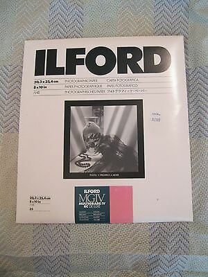 """Ilford MGIV Multigrade IV Photographic Paper 8x10"""" 25 sheets NEW - Sealed"""