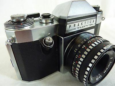 PRAKTICA NOVA 35mm FILM SLR CAMERA WITH MEYER-OPTIK 50mm f2.8 LENS          #NS#