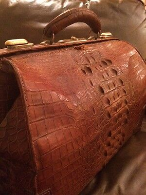 Antique Large Alligator Doctor Bag, Rare & Beautiful