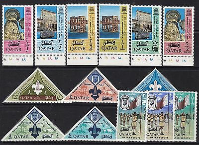Qatar 1965 Monuments & Scouts Sets Unmounted Mint