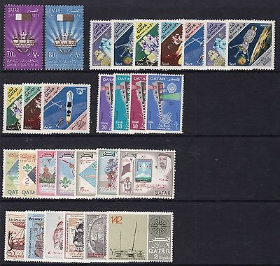 Qatar 1967 Commemorative Sets Unmounted Mint