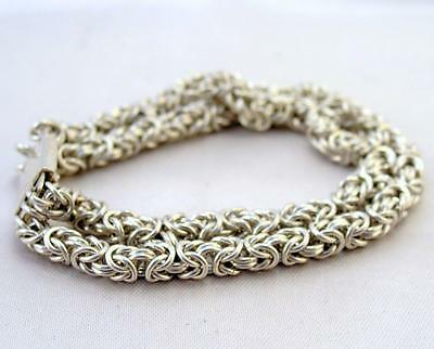 Solid Silver Link Chain BRACELET Superb Quality