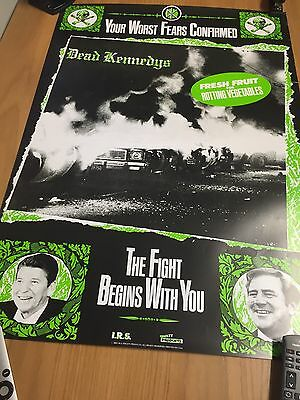 The Dead Kennedys 1981 Irs Records Punk Promo Poster Very Rare!