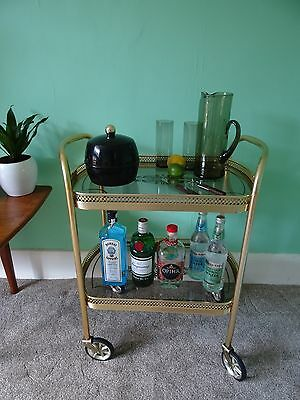 DRINKS TROLLEY, Retro Cocktail Trolley, Vintage Afternoon Tea Trolley, Tea Party