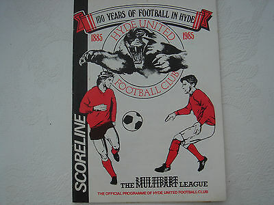 1986 HYDE UNITED v WORKSOP TOWN LEAGUE CUP