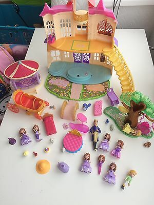 Disney Sofia The First Magical Talking Castle Playset And Accessories
