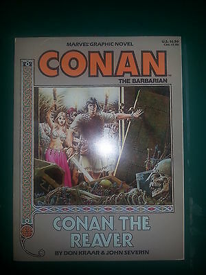 Marvel Graphic Novel #28 - Conan The Reaver (1987, Marvel)