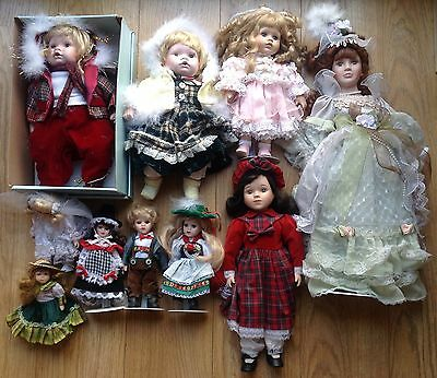 Collection Of 10 Porcelain Dolls