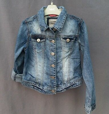 Next girls denim jeans summer jacket, coat size 9-10 years excellent condition