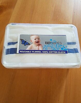 brand new sealed pack of reusable baby wipes 10 pack