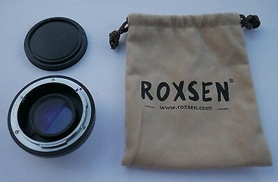 Roxsen Focal Reducer Speed Booster Canon FD to Micro 4/3 MFT -Olympus Panasonic