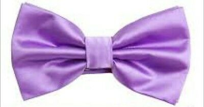 Light Purple satin bow tie clip-on attachment kids toddler baby FAST SHIPPING!