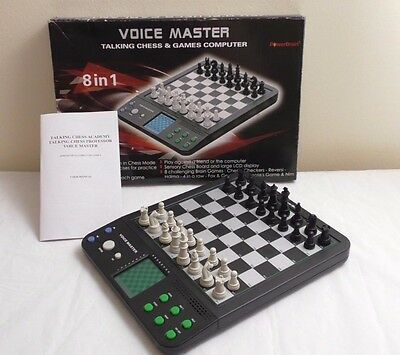Voice Master Talking Chess & Games Computer 8 in 1 PowerBrain Teaching mode