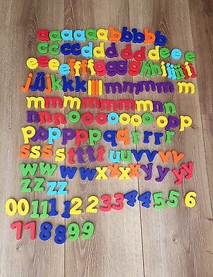 Kids Educational Colourful Magnetic Alphabet Letters Numbers Large Bundle 147