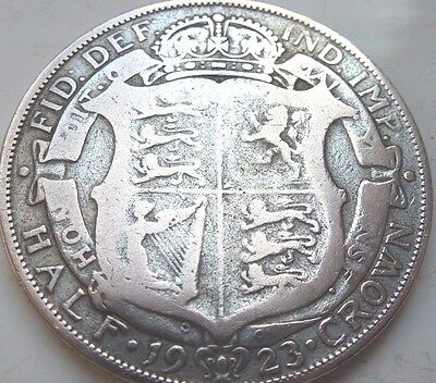 British King George V 1923 Half Crown Silver Superb Coin Hunt