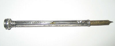 Antique Silver, Seal End. Sliding / Propelling / Fountain / Ink Pen. Unusual.