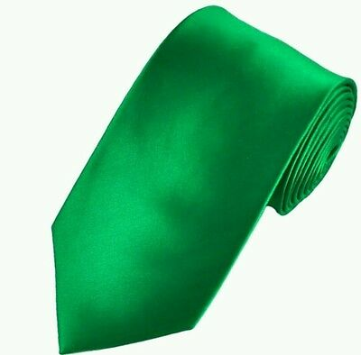 Nature green satin tie for kids toddler baby FAST SHIPPING!