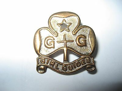 Vintage Girl Guides Holborn Silvercraft, Trefoil Pin Badge.