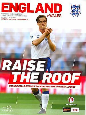 ENGLAND v WALES 2011 EURO QUALIFIER MINT PROGRAMME