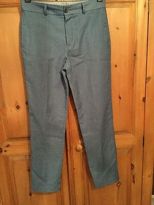 Next Signature Boys Smart Formal Blue Trousers Age 14 Years