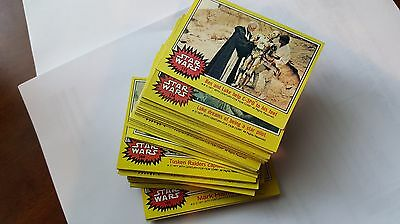 1977 Vintage Topps Star Wars 3rd Series 66 Card Complete Yellow Card Set