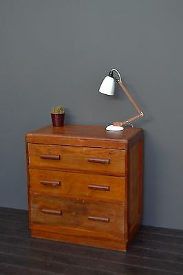 Vintage Industrial Rustic Mid Century Wooden Chest Of Drawers