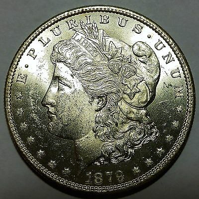 Better Date 1879-S Morgan Silver Dollar Brilliant Uncirculated No Reserve!