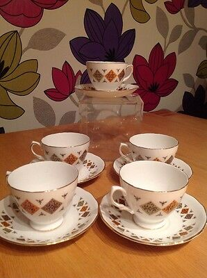 Vintage 1960s English Colclough Crispin 8198 Pattern Bone China
