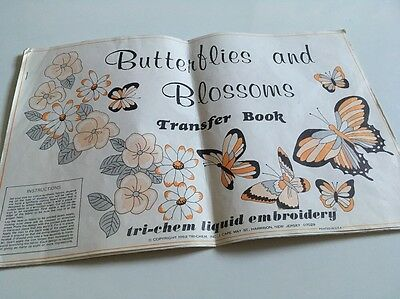 Vintage Butterflies And Blossoms Transfer  Book Iron-On  Patterns Embroidery