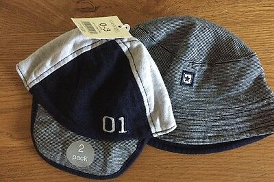New With Tags 0-3 Months Boys Hats X 2