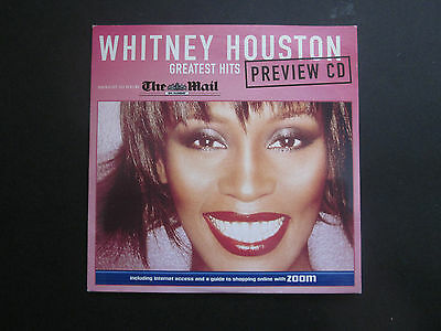 WHITNEY HOUSTON Greatest Hits Preview CD - Mail on Sunday Promo