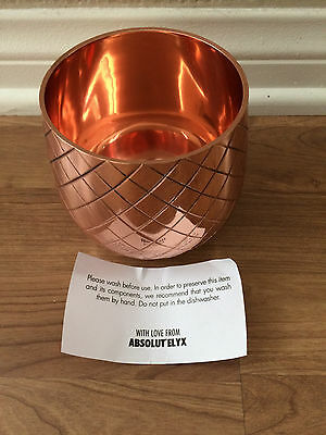 Rare Absolut Elyx Copper Pineapple Cup Bottom Only Full Copper