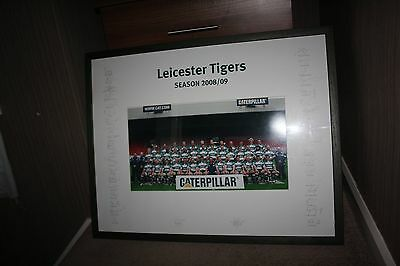 signed Leicester Tigers Team Photo Framed