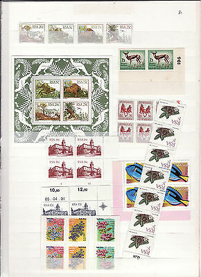 South Africa - 1980S Various Blocks, Strips, Minature Sheet Mainly Um