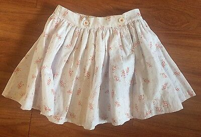 THE LITTLE WHITE COMPANY White Floral Skirt, 3-4 years, BNWT