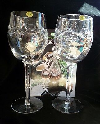 Tyrone Crystal Wine Glasses: Large Goblets: Irish Crystal: Contemporary: Lead