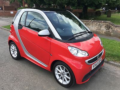 Smart Fortwo Passion Cdi Diesel Auto 2013/63 Sunfire Red/silver 32000 Miles !!!