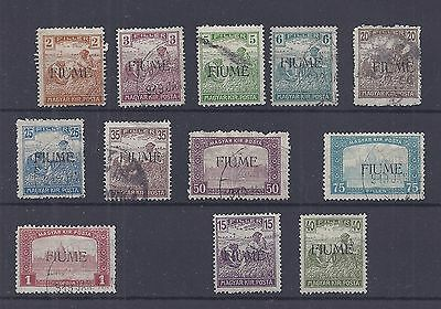 1918 FIUME Harvesters Used + 2 x Mint Stamps Cat £105  (2022)