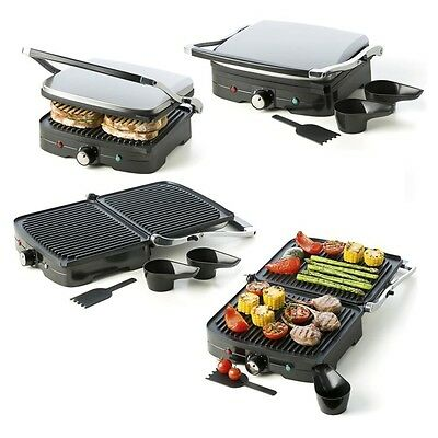Compact Grill Sandwich Maker Cafe Non Stick New 1500W Press Electric Drip Trays