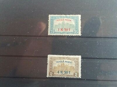 Hungary stamps 1918 MH Airmail set #25