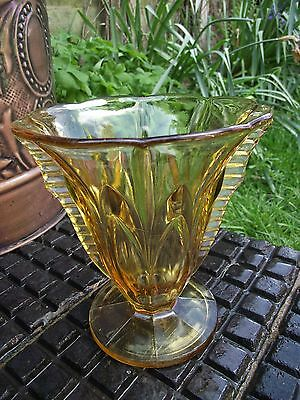 Vase - Art Deco - Amber Glass - Hermanova Hut ?