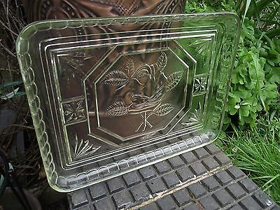 Dressing Table / Cup Cake Tray Art Deco - Rose Design - 1930's Retro - Czech ?