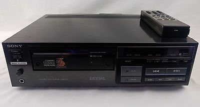 Sony CDP-101 1st Commercial CD Player Launched 1982 Working Order With Remote!