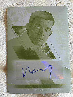 Topps Doctor Who Timeless 2016 Printing Plate Autograph Russell Tovey Alonso 1/1