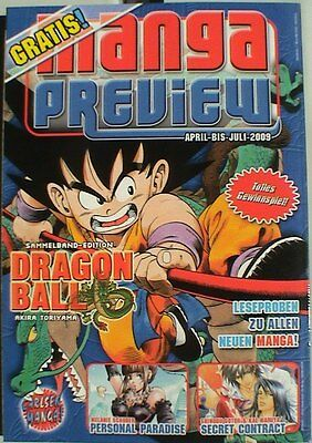 MANGA Preview April - Juli 2009 Carlsen Dragon Ball NEU